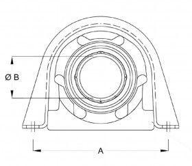 Mellomaksel lager, opphengslager, støttelager